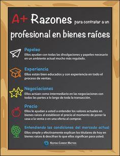 Razones A+ para contratar un profesional en bienes raíces [INFOGRAFíA] - Latina on Real Estate
