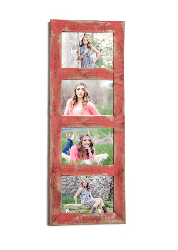 4 hole 5x7 Collage Multi Opening Picture Frame-Rustic Picture Frame ...