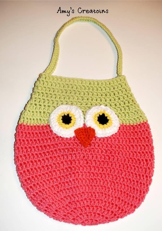 Adorable Crochet Owl Bag Owl Bags Crochet Owls And Owl