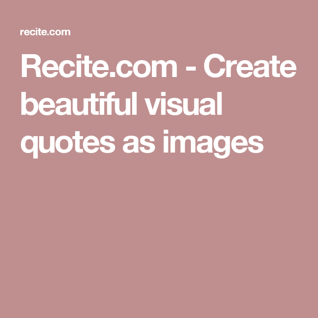 Create beautiful visual quotes as images