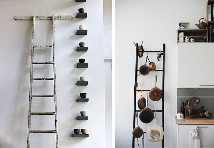 Photo 7 ladder scandinavian interior - Galanes de noche originales ...