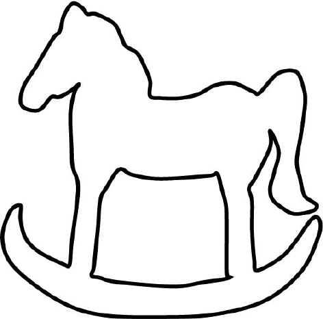 printable ornament shapes rocking horse template click to