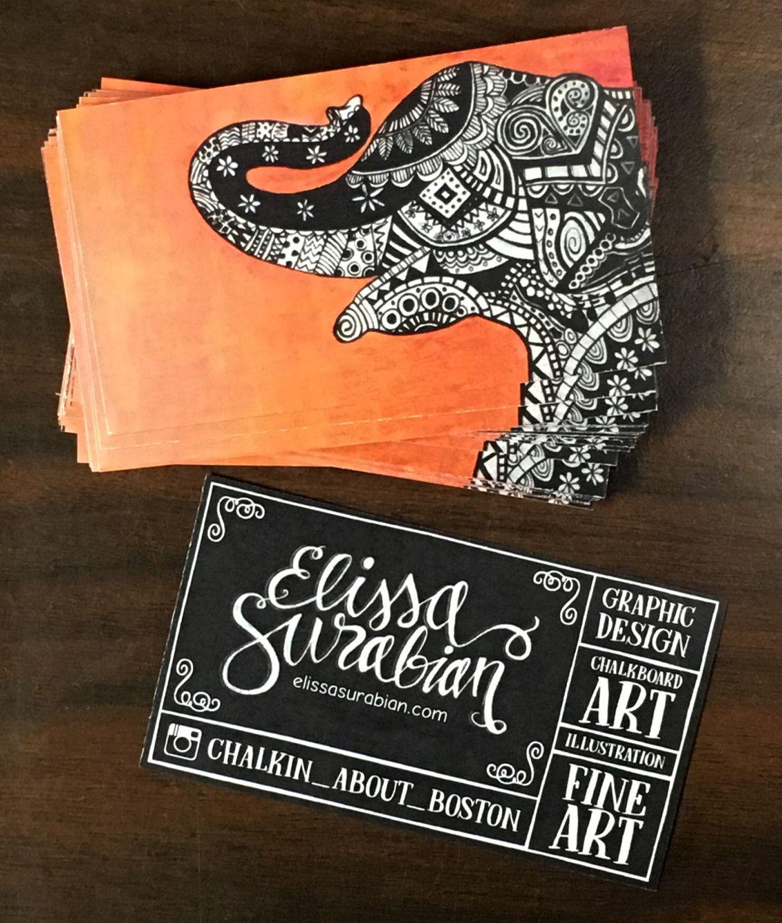Business card design elissa surabian art artist business