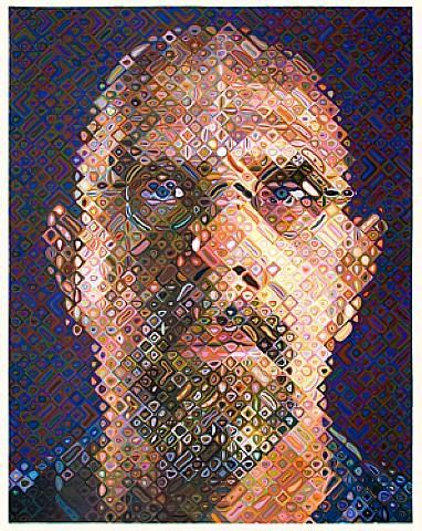 chuck close a self portrait after his accident which