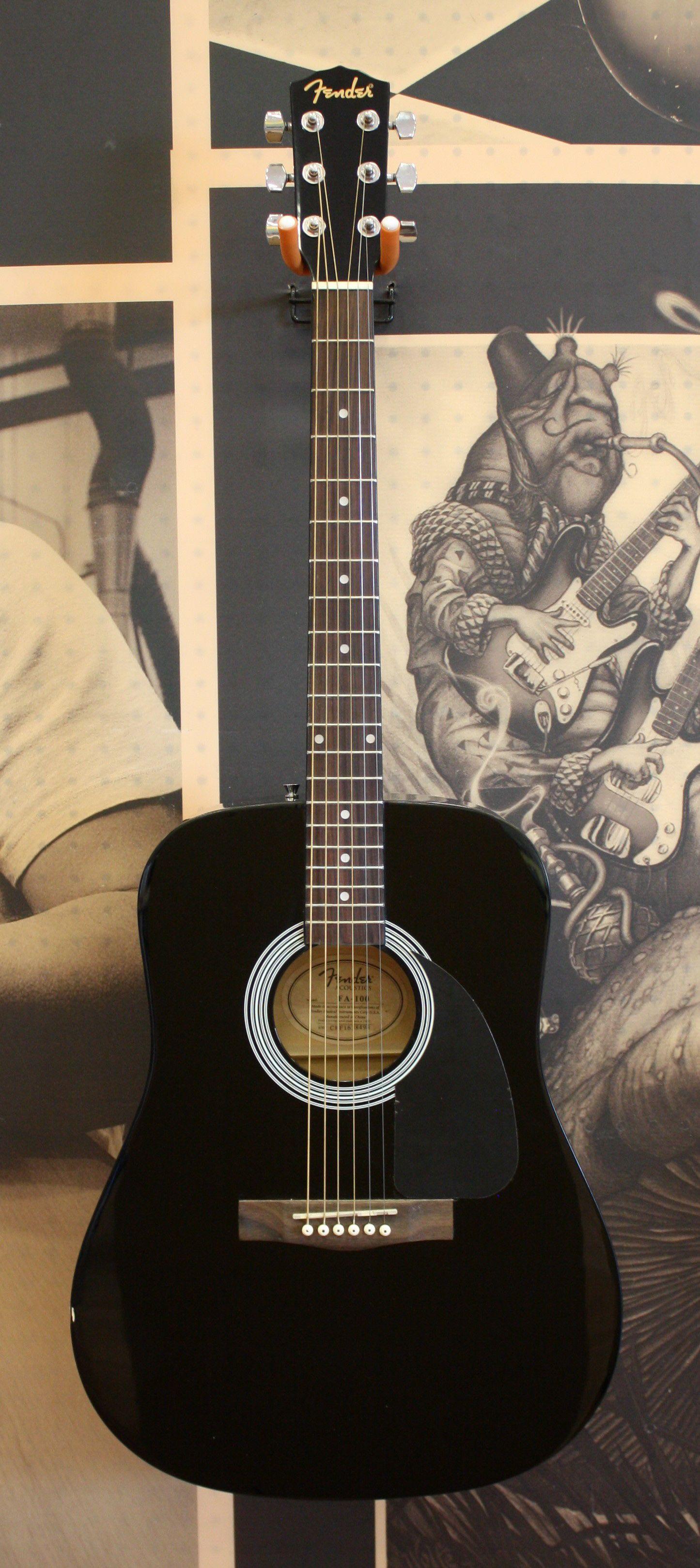 Fender Fa 100 Dreadnought Acoustic Guitar Black Acoustic Guitar For Sale Guitars For Sale Guitar