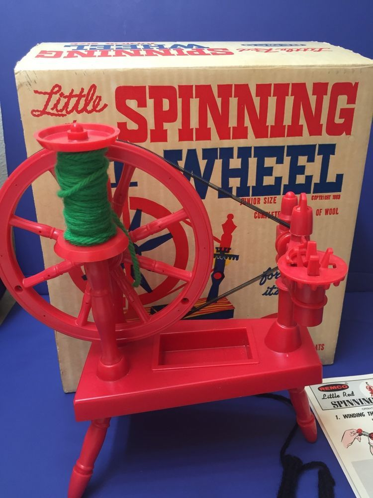 Vintage 1963 Remco Toy Little Red Spinning Wheel JUNIOR SIZE W/ Box and  manual #Remco