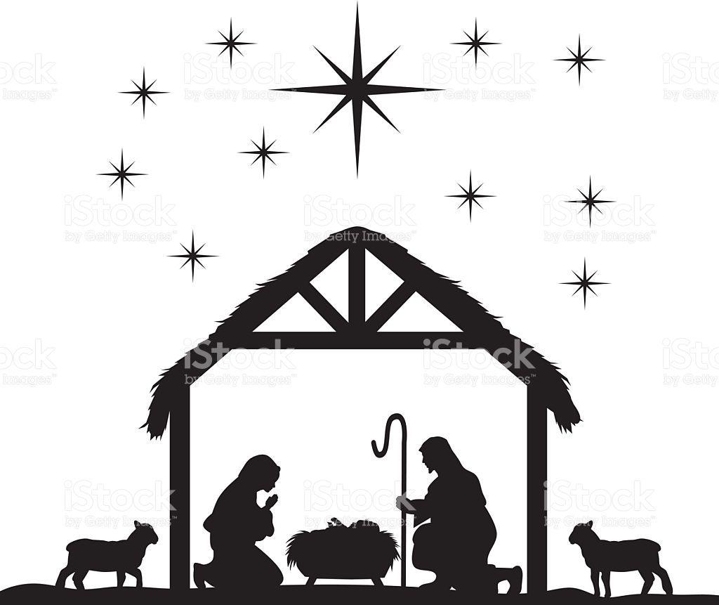 Traditional Christian Christmas Nativity Scene of baby