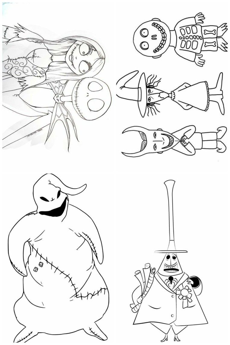 Single Page Coloring Book Nightmare Before Christmas Coloring Books Christmas Coloring Pages Nightmare Before Christmas