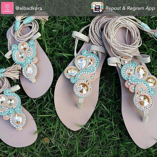 Sandalias soutache hechas a mano y personalizadas. Envíos a toda España. Encarga las tuyas y las haremos a tu gusto y para ti. #soutache#3almasoutfit#summer#tendencia#photo#modafashion#ssandalias