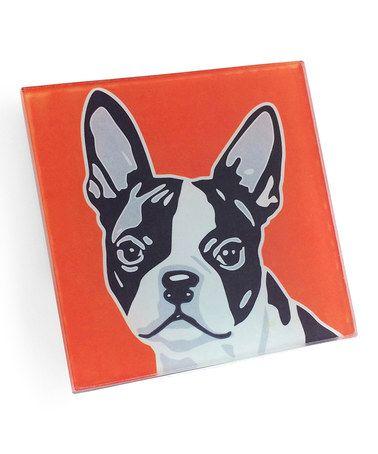 Orange Boston Terrier Coaster Set Of Four Boston Terrier Coaster Set Top Dog Breeds