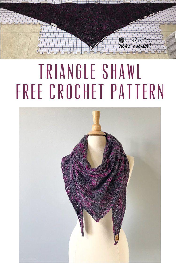 Gramercy Shawl Free Crochet Pattern   Crochet   Pinterest