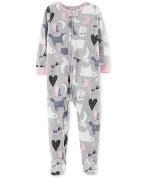 387dcaafa Carter s Toddler Girls Animal-Print Footed Fleece Pajamas - Multi 2T ...