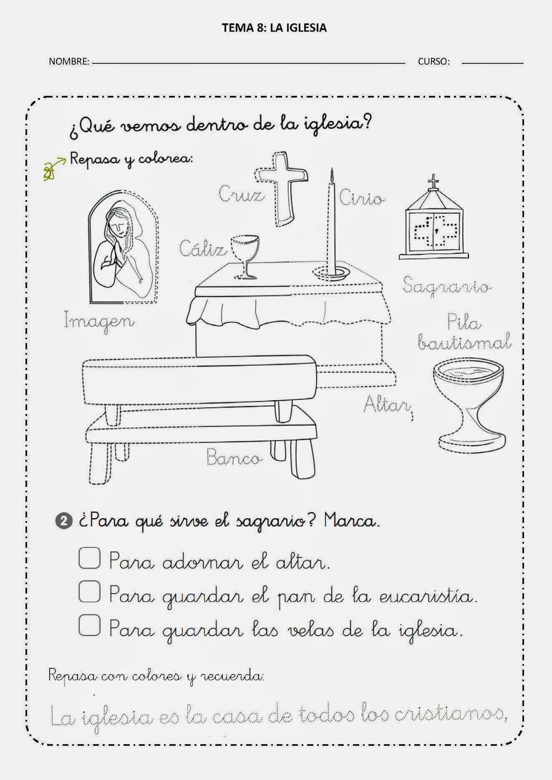 Aprendemos en reli: TEMA 8: LA IGLESIA - … | Amigos de Jesús | Pinte…