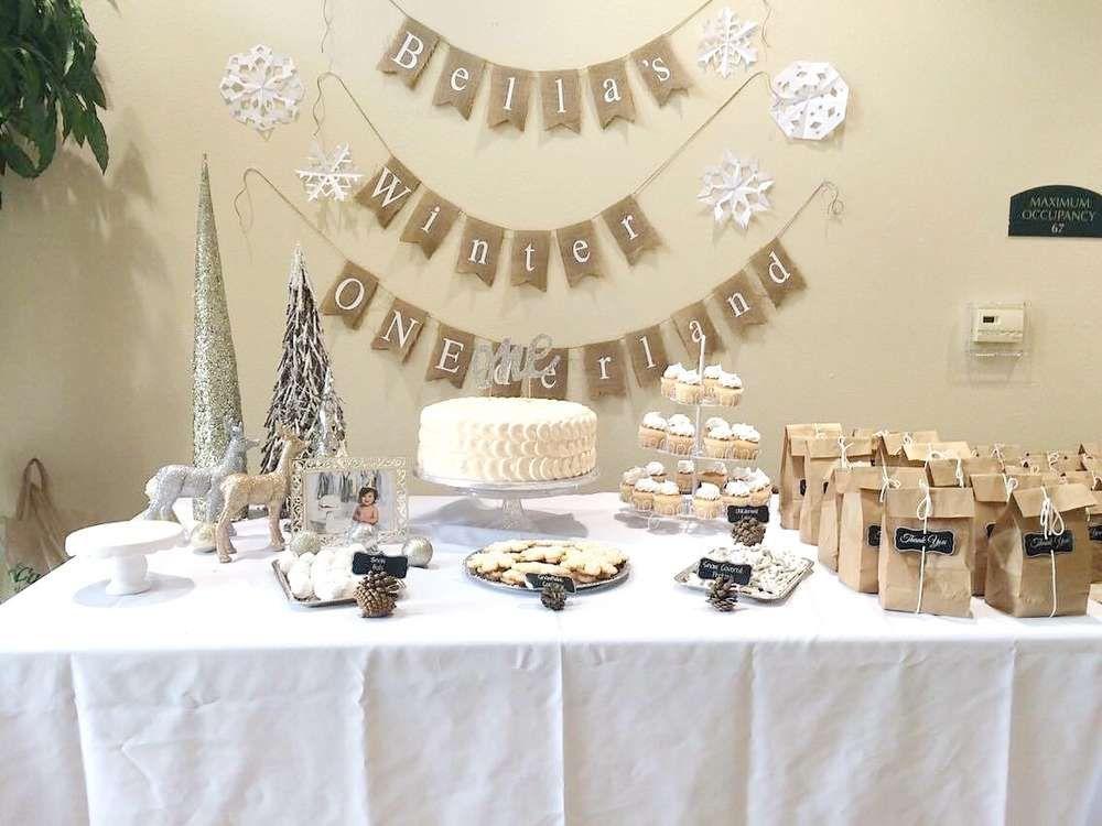 Winter Onederland Birthday Party Ideas Photo 1 Of 11 Onederland Birthday Party Winter Onederland Birthday Party Winter Birthday Parties