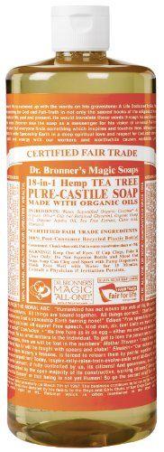 Dr. Bronner's Fair Trade & Organic Castile Liquid Soap - (Tea Tree, 32 oz) - http://essential-organic.com/dr-bronners-fair-trade-organic-castile-liquid-soap-tea-tree-32-oz/