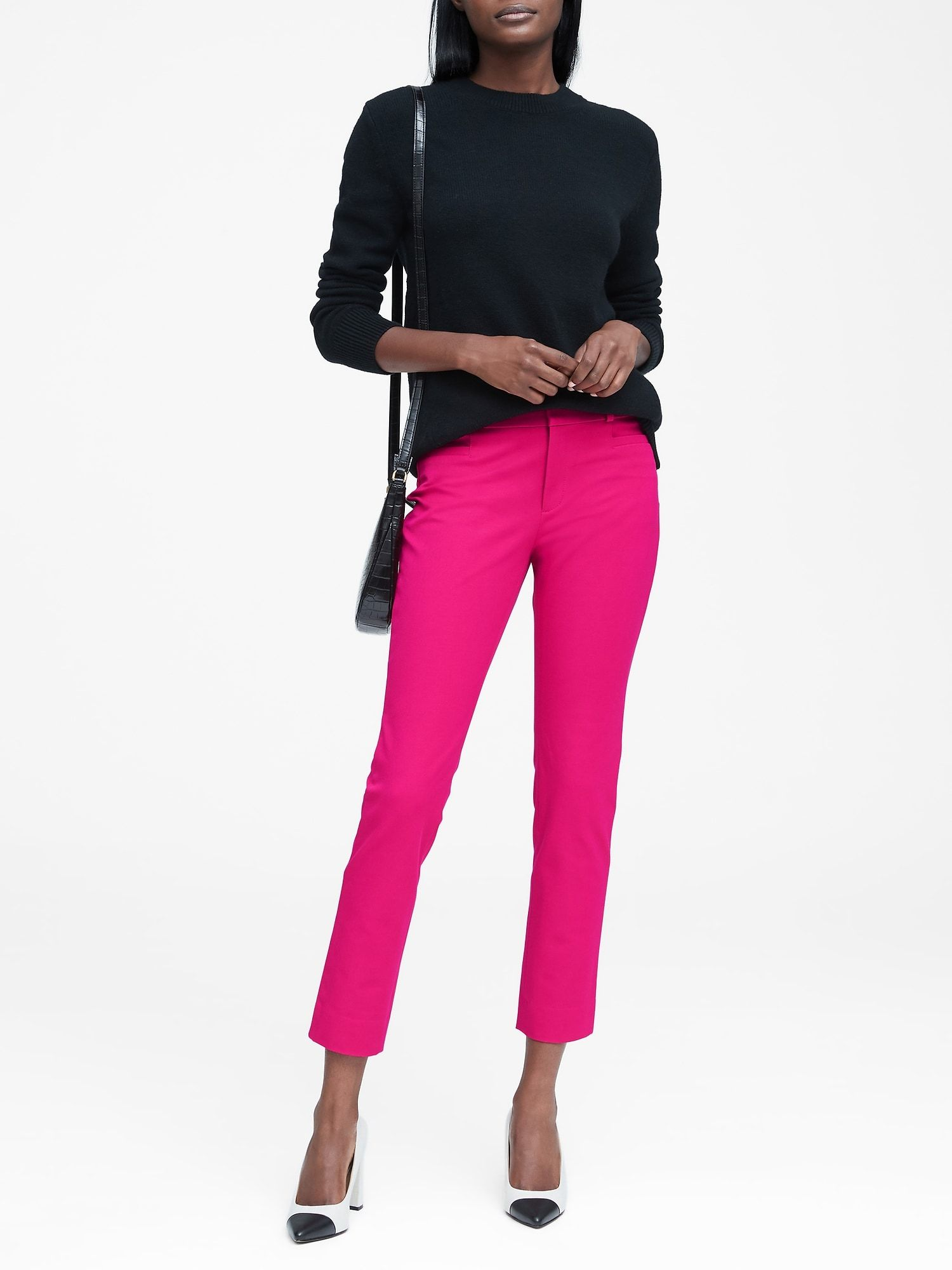 cb1b8f73b18ff9 product photo Trouser Outfits, Pink Sweater, Hot Pink Pants, Pink Pants  Outfit,