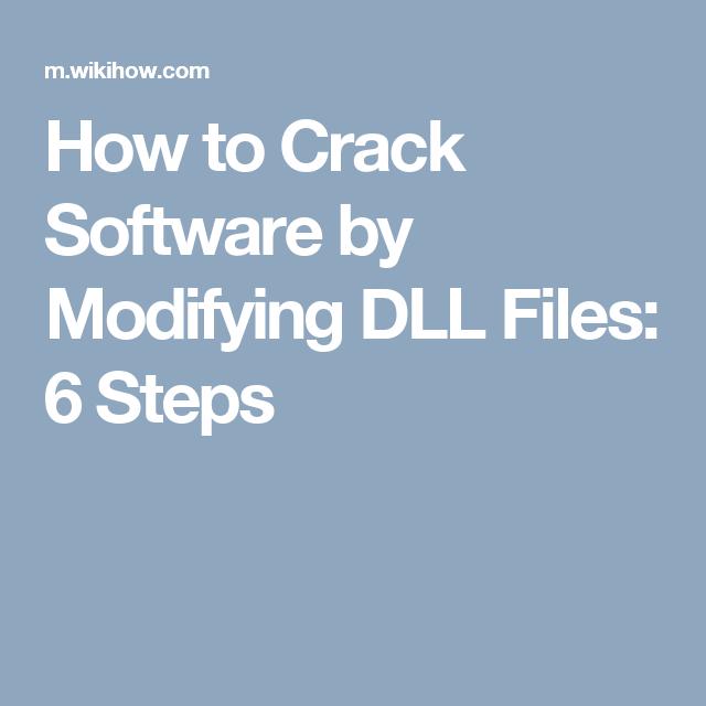 Crack Software by Modifying DLL Files | web developer