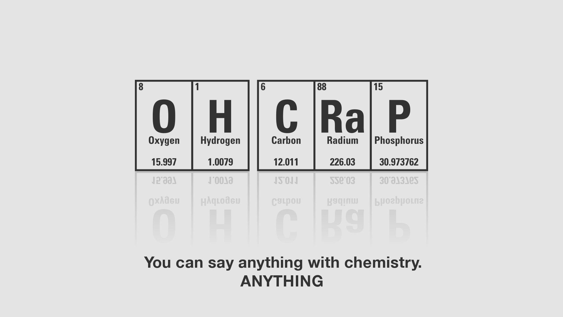 Science minimalistic crap humor quotes funny wallpaper snarkentary hilarious urtaz Choice Image