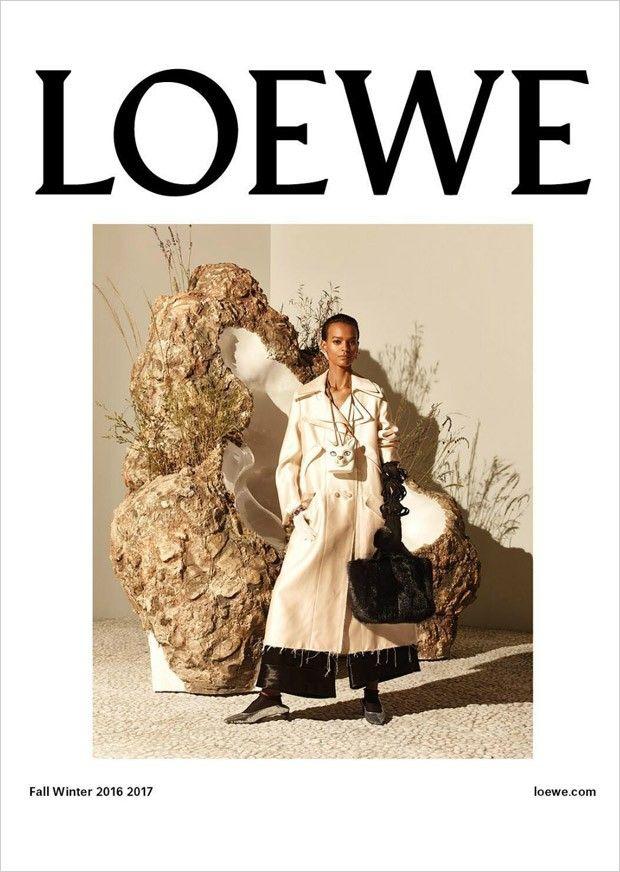 LOEWE  Liya Kebede and Jackson Wakefield by Steven Meisel with styling from Benjamin Bruno x Jonathan Anderson's Loewe FW'16 Campaign