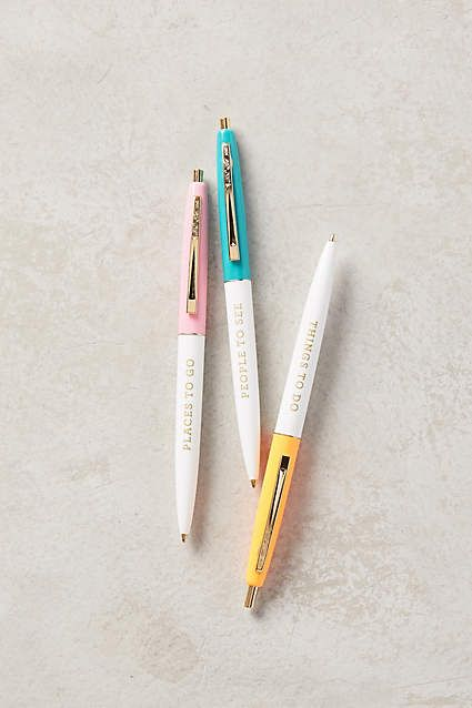 On The Move Pens Anthropologie Stationary store and Stationary