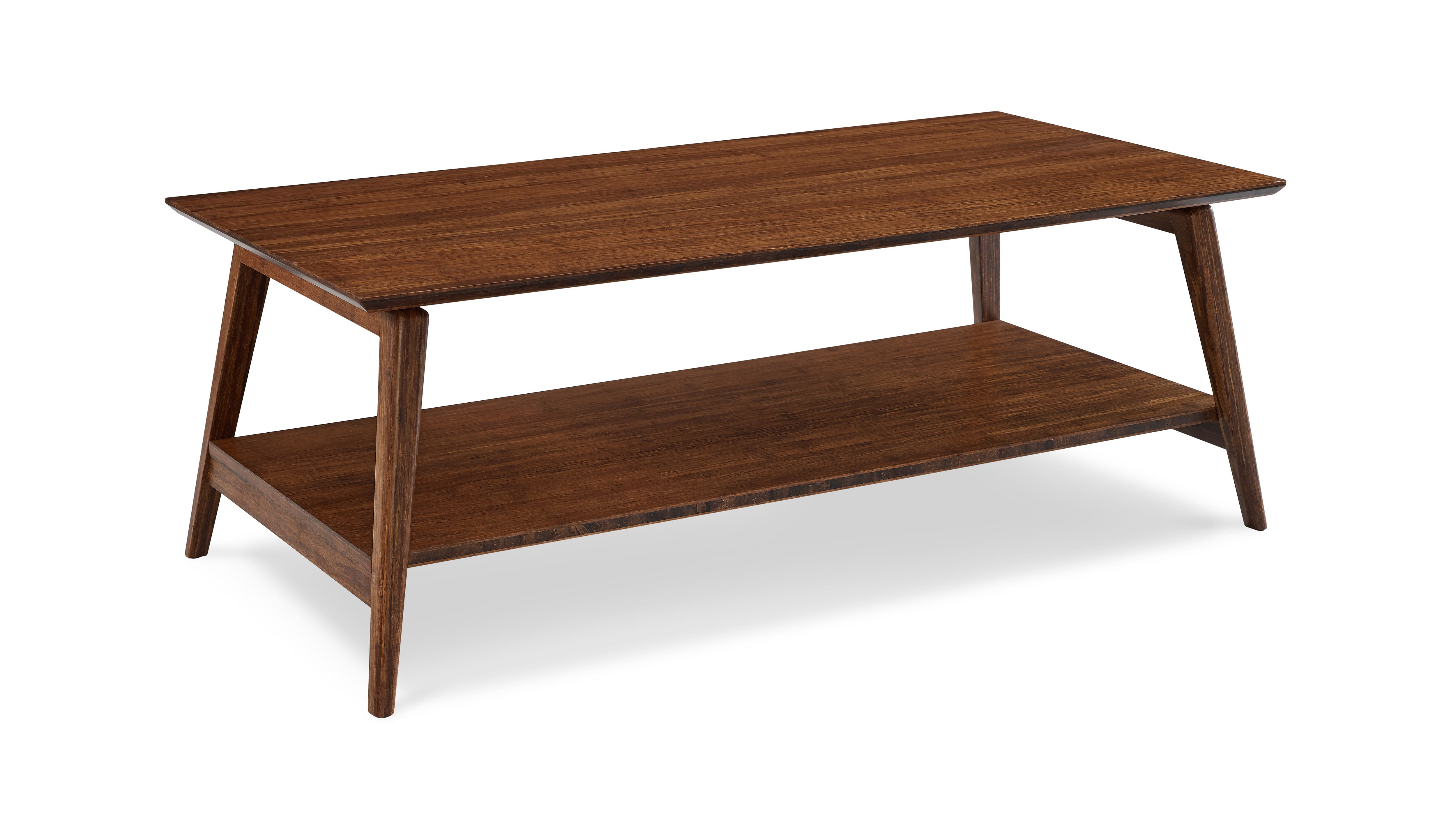 Bamboo Wood Coffee Table Value