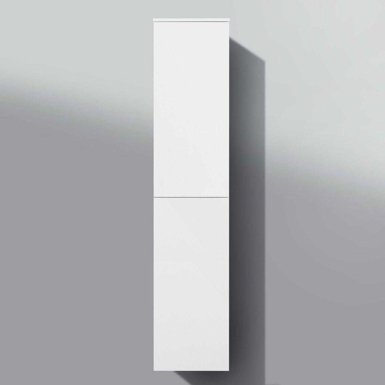 Bad Hochschrank Seitenschrank Grifflos H B T 161 35 33cm Weiss