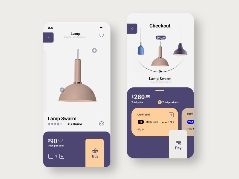 Lamp Store App Concept App Design Lamp Store