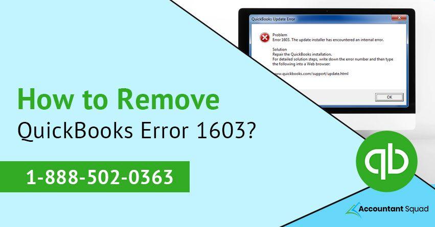 How to Remove QuickBooks Error 1603? in 2019 | QuickBooks error