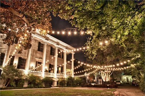 Wickliffe House Cafe Lights Wedding Decor Inspiration Wickliffe