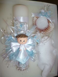 Resultado de imagen para velas decoradas para bautizo - Velas decoradas para bautizo ...