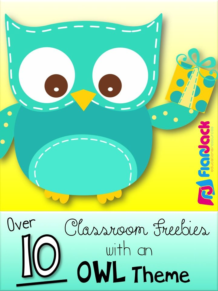 Free owl resources find lots of owl classroom freebies for Art classroom decoration ideas