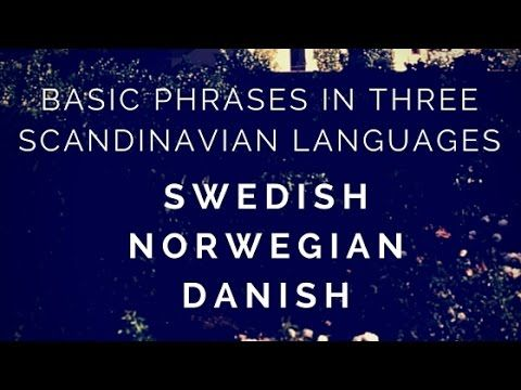 Learn Scandinavian Languages Together Swedish Norwegian Danish Reisen