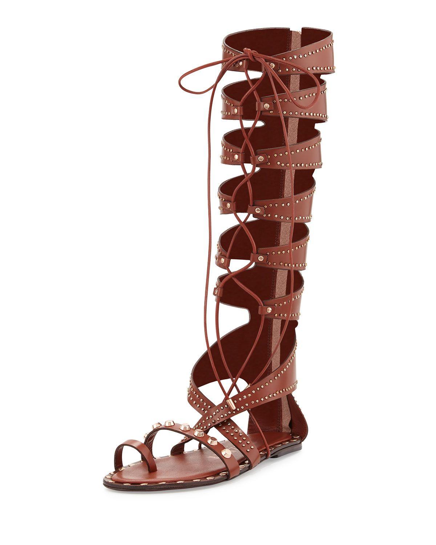 ba0f849bedd Ivy Kirzhner Sorcerer Studded Lace-Up Gladiator Sandal