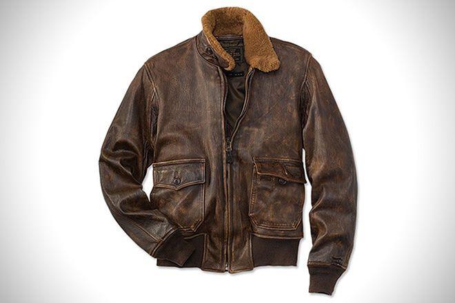 jaqueta de couro marron de aviador  0c4342acd91
