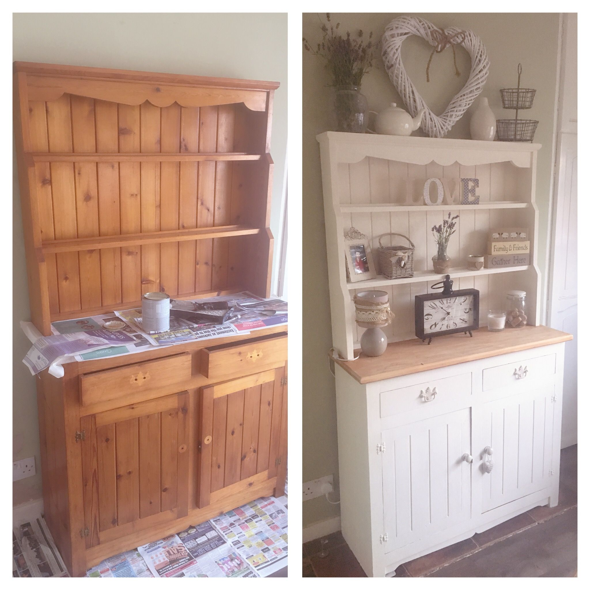 Welsh Dresser Upcycle By Me Revamp Furniture Furniture Makeover Kitchen Dresser