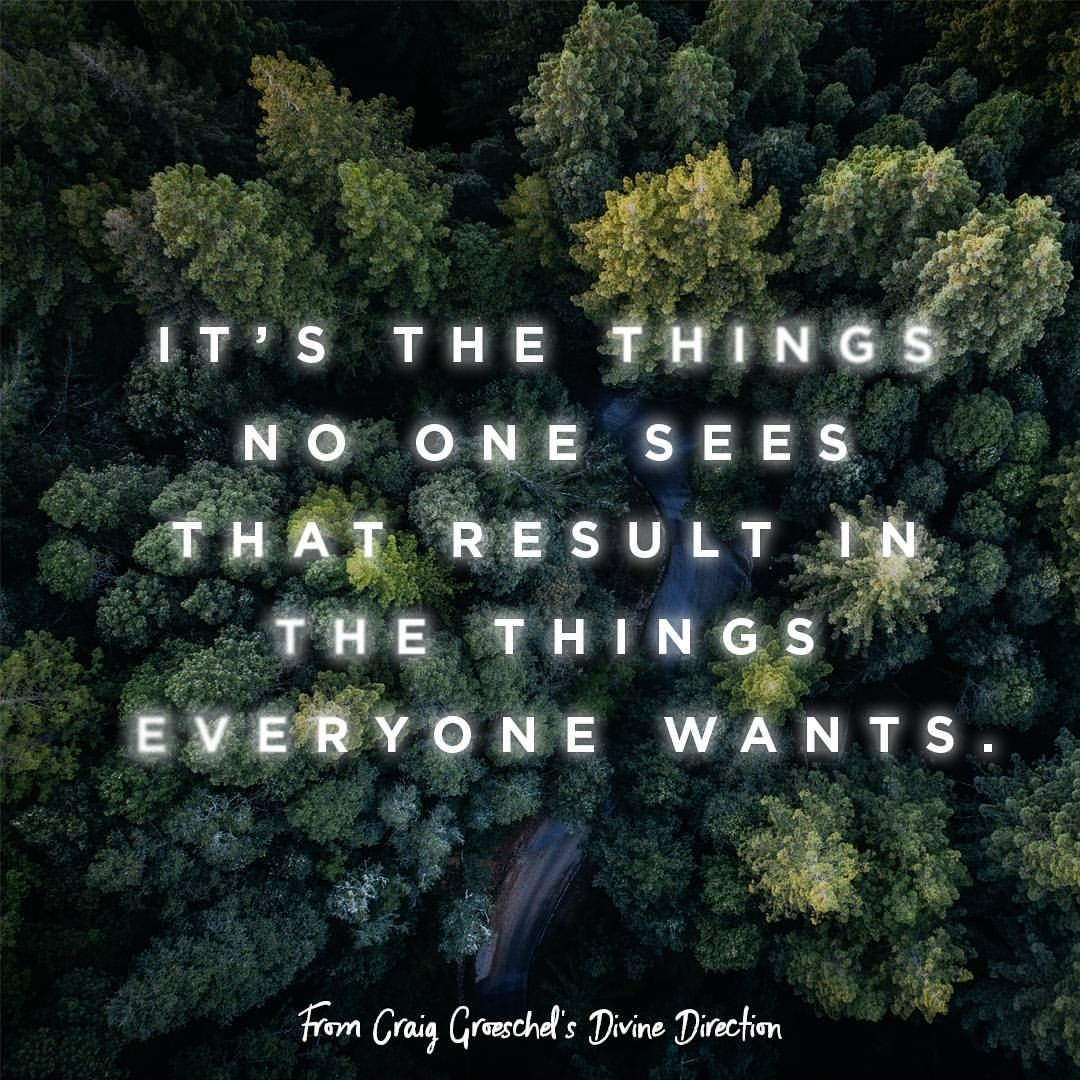 """1,299 Likes, 9 Comments - Craig Groeschel (@craiggroeschel) on Instagram: """"It's the faithfulness to do mundane things well, to develop productive habits, and to remain…"""""""