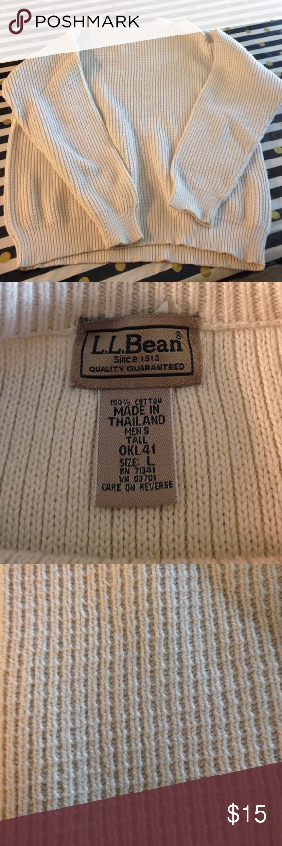Men's LL Bean sweater Super Comfy and Thick! Excellent for outdoor gatherings! EUC same day shipping! LL Bean Sweaters Crewneck