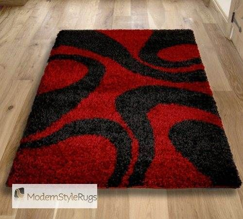 Vista 4263 Red Black Rug Online Free Uk Delivery Modern Rugs Contemporary