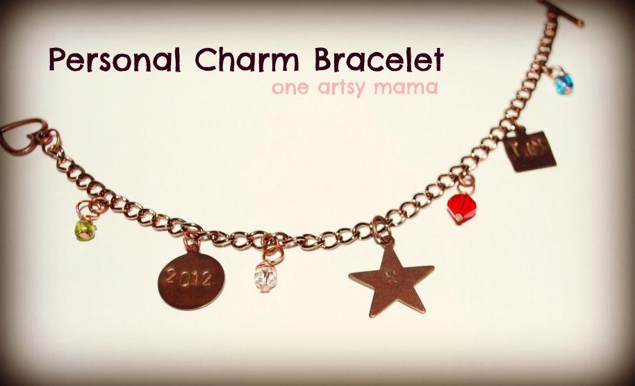 One Artsy Mama: Personalized Charm Bracelet