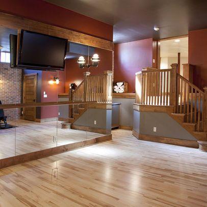 ballet barre for basement gym  home dance dance rooms