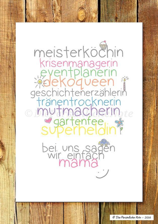 Druck print f r mama nicht nur zum muttertag mamas - Bastelideen geburtstag mama ...