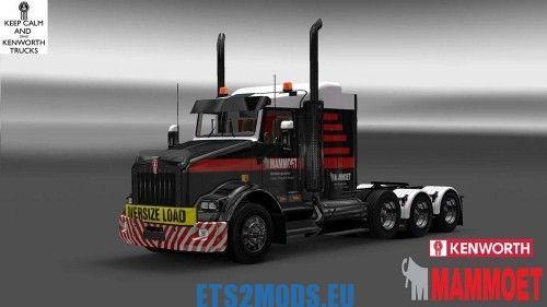 Kenworth T800 Mammoet Skin - ETS2MODS EU - Euro Truck