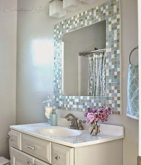 Tutorial como hacer un espejo para el ba o con cenefa de - Cenefas para espejos ...