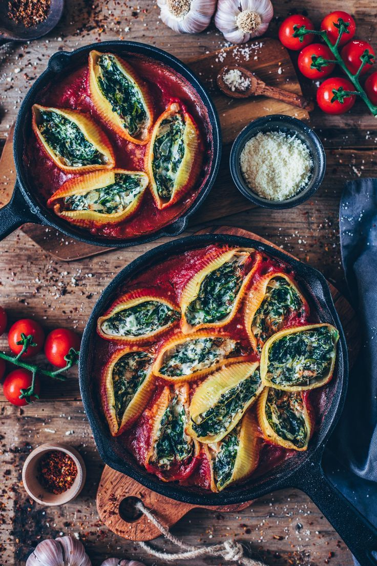 Photo of Vegan Stuffed Shells with Spinach Cream – Bianca Zapatka | Recipes