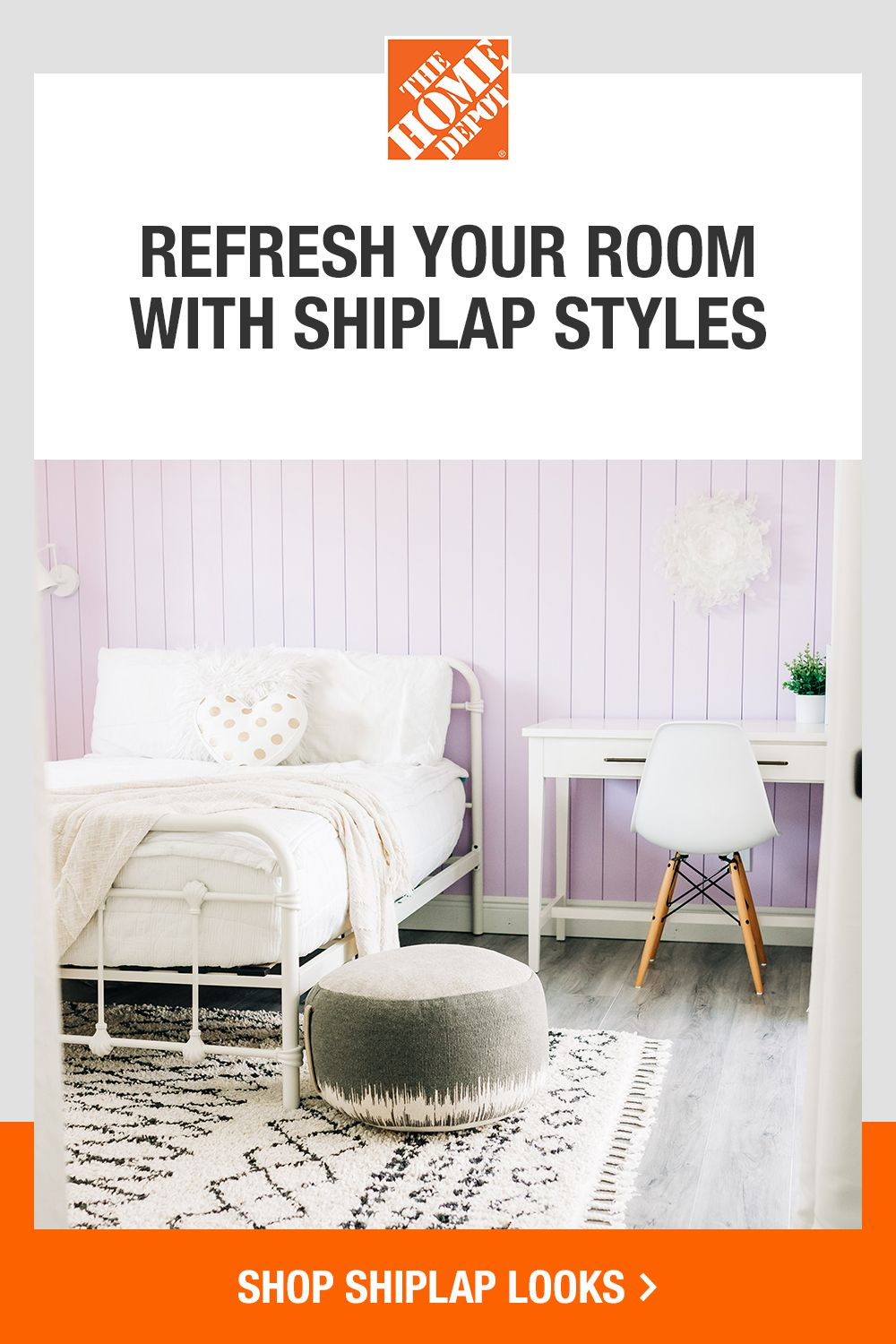 Explore our wide selection of shiplap looks, and rent the tools to finish your DIY project. Find how-to guides to complete your project like a pro. Tap to shop shiplap looks at The Home Depot.