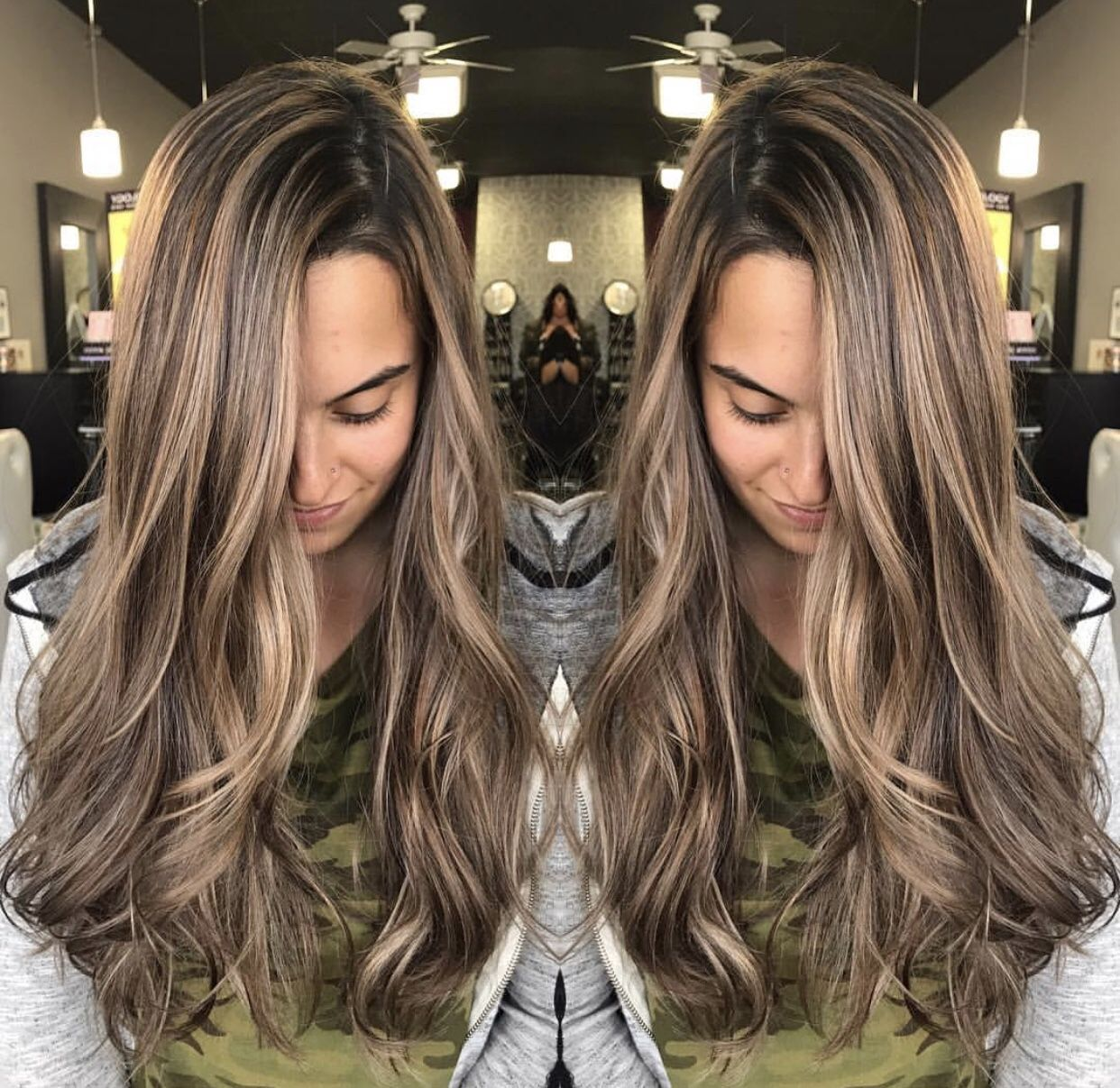 Sandy Blonde Balayage Highlights Longhair Color Bronde