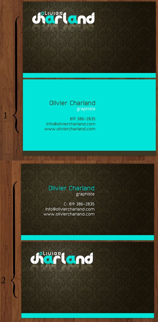 Post Image For Olivier Charlands Graphic Design Business Card The Background Of This Reminds Me A Victorian Wallpaper