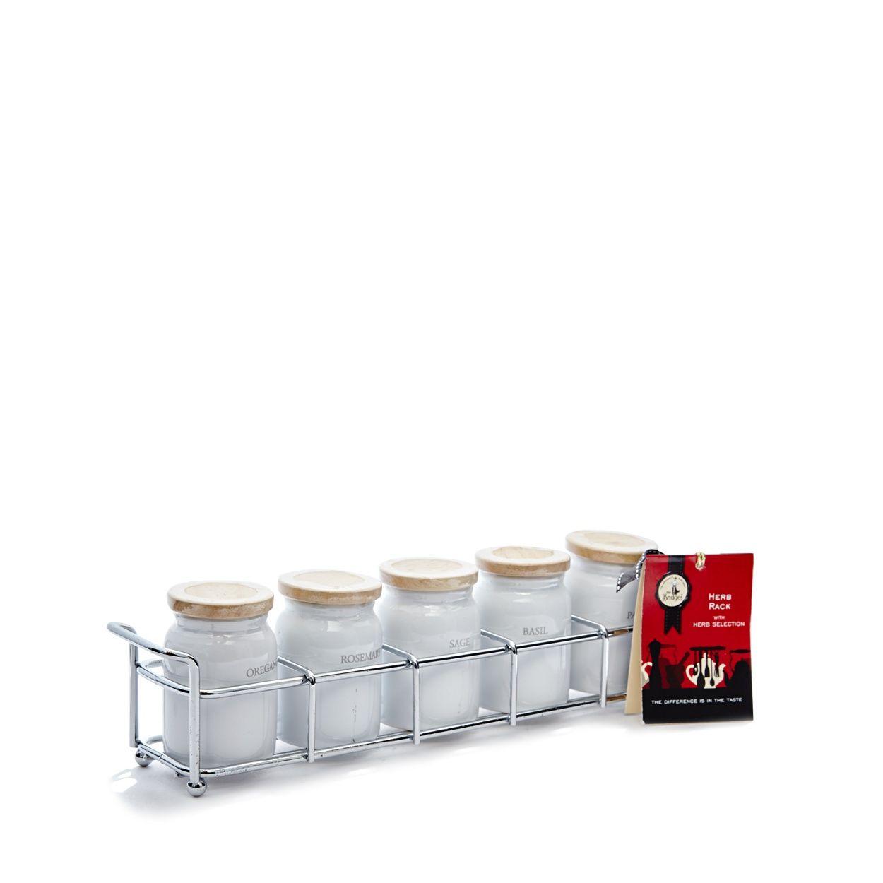Mrs bridges spice rack set drink gift metal rack wine