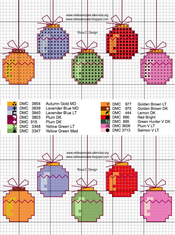 Risultati immagini per schemi punto croce per palline di for Immagini di punto croce