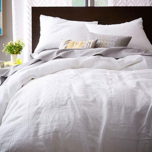 Belgian Linen Duvet Cover Shams West Elm Maybe Master Bedroom World Of Linen Pinterest